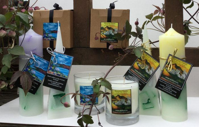 Les MacLeod candles 3 Isle of Arran