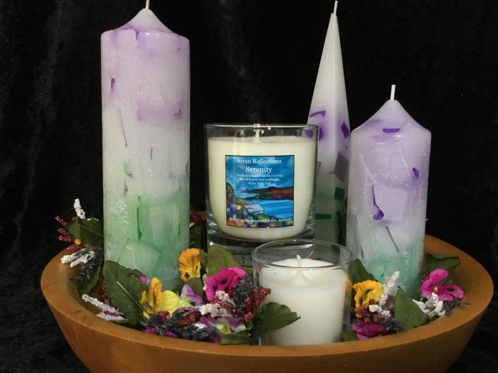 Les MacLeod candles Isle of Arran